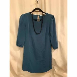 XS Kimchi Blue shift dress in turquoise